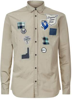 DSQUARED2 Long Sleeve Badge Shirt
