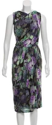 Etro Abstract Print Sleeveless Dress Green Abstract Print Sleeveless Dress