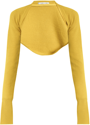 PALMER/HARDING Open-front cropped knit top
