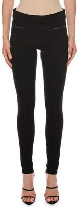 Tom Ford Leather-Trim Zip-Pocket Stretch Leggings