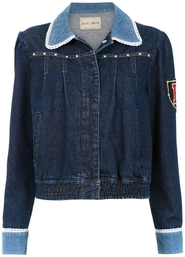 Andrea Bogosian embroidered denim jacket