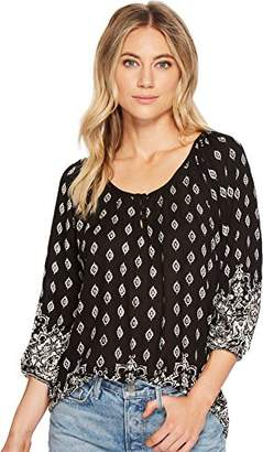 Angie Juniors' Printed Raglan-Sleeve Top