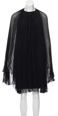 Azzaro Embellished Plisse Dress