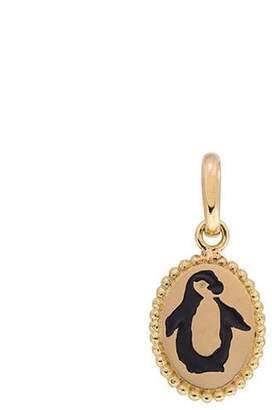 Original Penguin Gigi Clozeau Yellow Gold and Black Medallion Charm