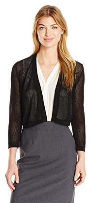Jones New York Women's 3/4 SLV Mesh Stitch Shrug