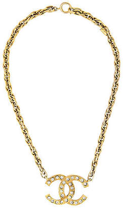 One Kings Lane Vintage Chanel Logo Necklace - Precious & Rare Pieces