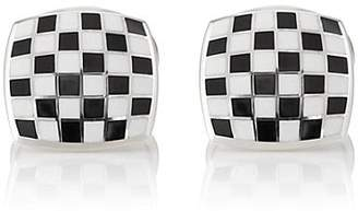 Deakin & Francis Men's Checkerboard Cufflinks - Black