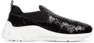 Miu Miu slip-on leather sequin sneakers