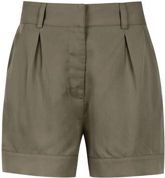 Egrey pleated tailored shorts