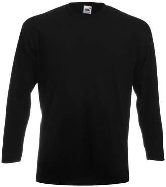 Fruit of the Loom Mens Super Premium Long Sleeve Crew Neck T-Shirt (XXL)