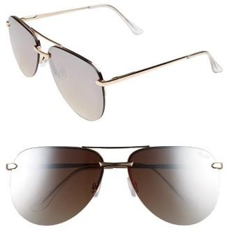 Women's Quay Australia The Playa 64Mm Aviator Sunglasses - Black/ Pink $65 thestylecure.com