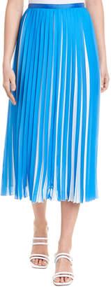 BCBGMAXAZRIA Pleated Midi Skirt