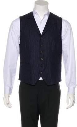 Brunello Cucinelli Pinstripe Gilet Wool Vest