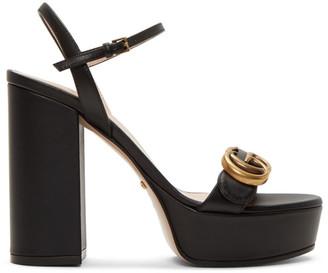 Gucci Black GG Platform Sandals