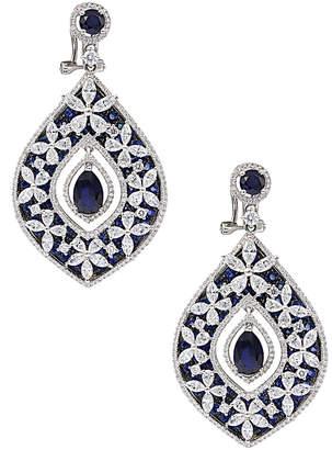 Diana M Fine Jewelry 18K 14.60 Ct. Tw. Diamond & Sapphire Earrings