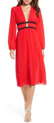 WAYF Patton Plunge Plisse Dress