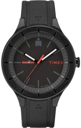 Timex Ironman Essential Urban 42mm Black/Red Watch, Silicone Strap