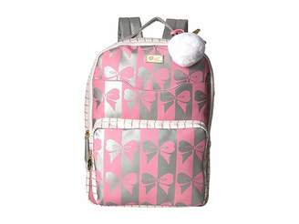 Luv Betsey Tyler PVC Backpack w/ Front Slip Laptop Pocket and Front Zip Pocket Backpack Bags