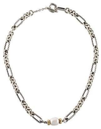 David Yurman Pearl Figaro Chain Necklace