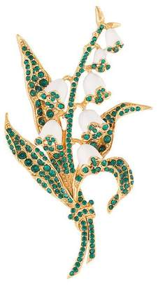Oscar de la Renta Lily of the Valley brooch