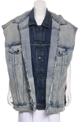 Vetements x Levi's 2018 Oversize Distressed Denim Vest