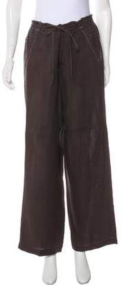 HUGO BOSS Boss by Wide-Leg Linen Pants