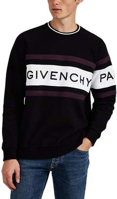 Givenchy Men's Logo Colorblocked Cotton Fleece Sweatshirt