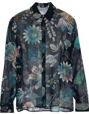 Versace Floral-Print Silk-Chiffon Shirt