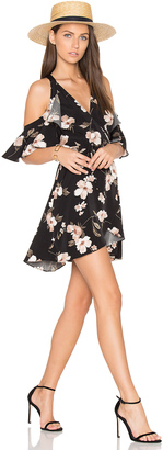 J.O.A. Cut Out Shoulder Mini Dress $83 thestylecure.com