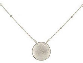 Adina Small Silver Disc Necklace