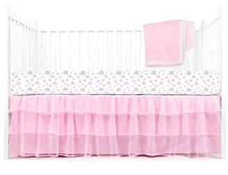 Tadpoles Elephant Crib Set, Pink