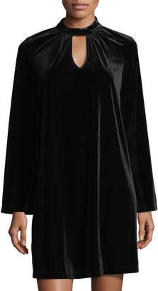 Nanette Lepore Nanette Velvet Trapeze Mini Dress