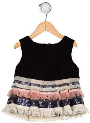 Milly Minis Girls' Fringe-Trimmed Shift Dress