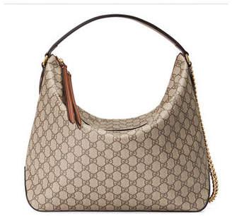 Gucci Linea A Large GG Supreme Canvas Hobo Bag