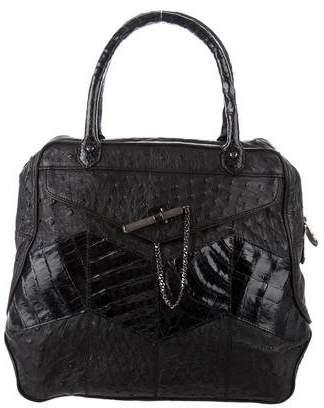 Reece Hudson Crocodile & Ostrich Leather Handle Bag