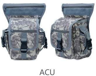 Kadell Tactical Military Leg Bag Men's Hip Drop Belt Waist Fanny Pack Waterproof- Adjustable Waist Strap - Multiple pockets with zipper opening