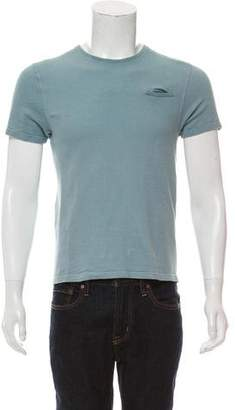 Calvin Klein Collection Textured Polo Crew Neck T-Shirt