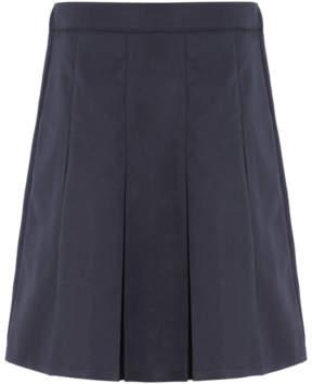 George Girls Navy Pleated School Skirt