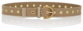 MAISON BOINET Women's Grommeted Canvas Belt