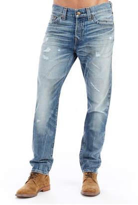 True Religion Logan Distressed Straight-Leg Jeans