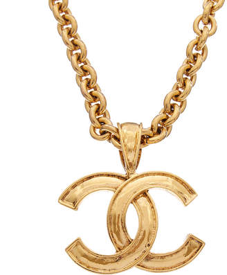 Chanel Gold-Tone Cc Necklace