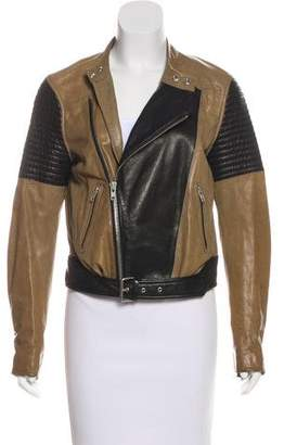 BLK DNM Leather Belt-Accented Jacket