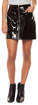 DEXED OUT Zip Front Mini Skirt