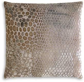 Kevin OBrien Kevin O'Brien Studio Snakeskin Velvet Decorative Pillow, 18 x 18