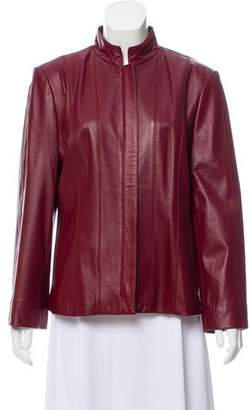 St. John Sport Casual Leather Jacket