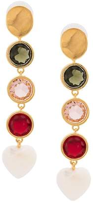 Lizzie Fortunato Nonna link drop heart earrings