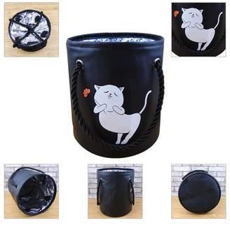 Viugreum Drum Bath Basket Waterproof Bath Box Portable Bath Basket Storage Bucket