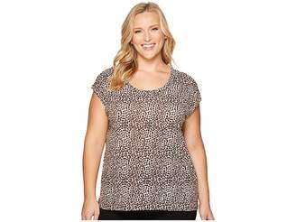 MICHAEL Michael Kors Size Leopard Elliptical Top Women's Clothing