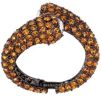 Kenneth Jay Lane Gunmetal Topaz Crystal Bracelet