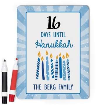 MonogramOnline Hanukkah Countdown Custom Dry Erase Memo Board